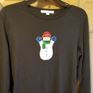 Snowman Long Sleeve Tee Medium